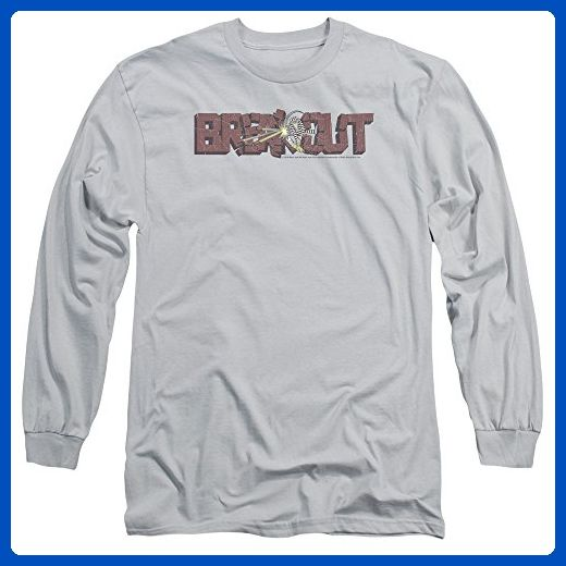 Atari Video Games Breakout Video Game Logo Distressed Adult Long Sleeve T-Shirt - Gamer shirts (*Amazon Partner-Link)
