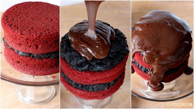 Red Velvet Oreo Truffle Chocolate Cake! | Pizzazzerie