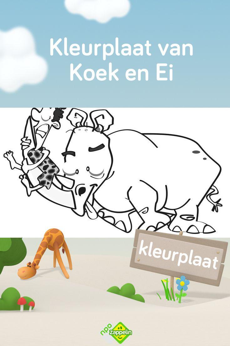 Kleurplaat Koek En Ei En De Neushoorn Kleurplaten Kinderkleurplaten Voor Kinderen