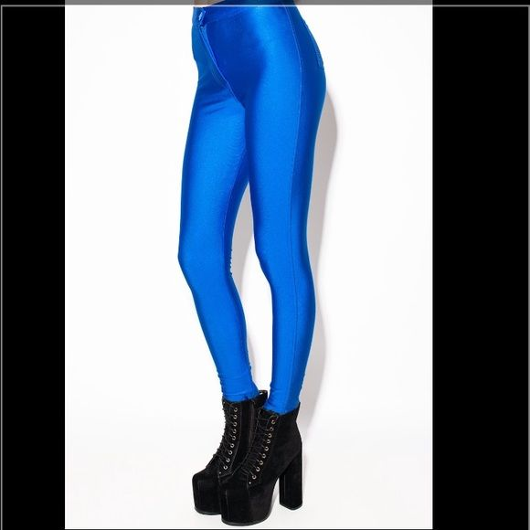Electric Blue Disco Pant Price slightly negotiable American Apparel Pants