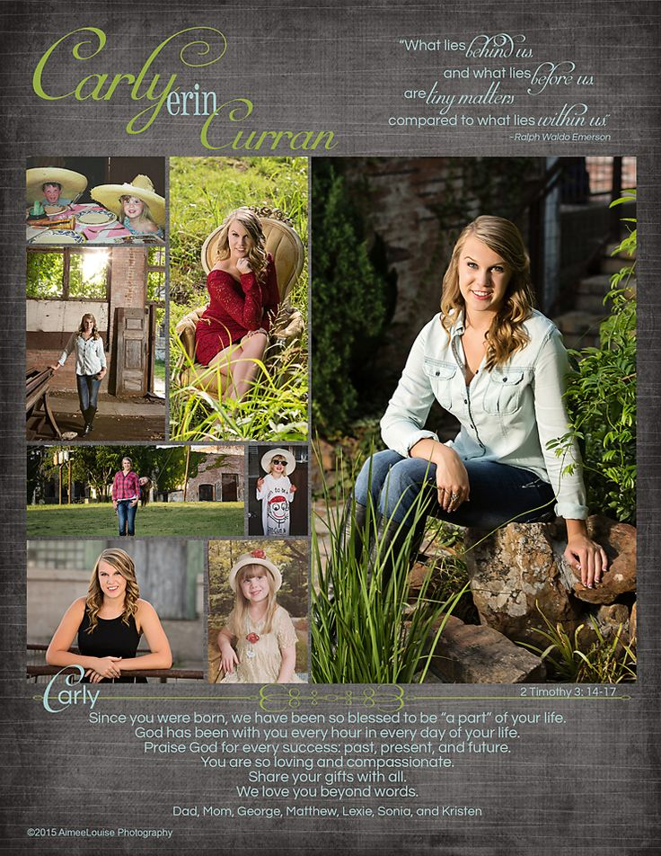 AimeeLouise Photography: Class Of 2015 Senior Tribute Pages {McKinney  Senior Photography} · Senior Yearbook AdsYearbook LayoutsYearbook ...