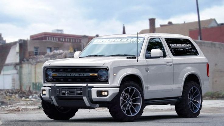 2018 Ford Bronco Concept Bronco on a beach. Yes.......