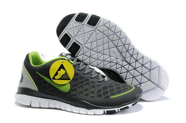Buy Discount Nike Free Run Tr Fit Dark Grey Green Men's Shoes uo