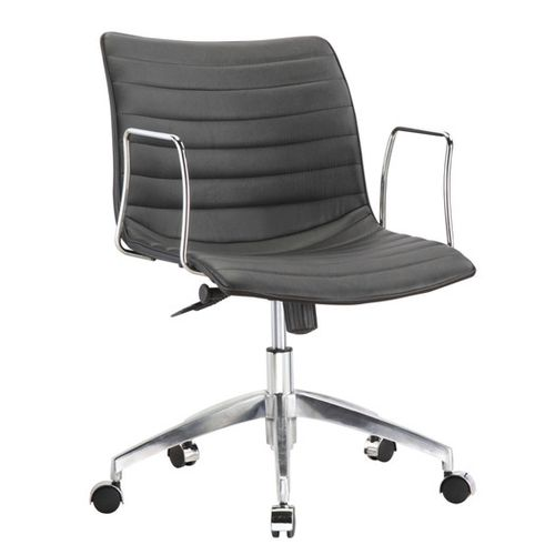 black midback modern midcentury style comfortable office chair