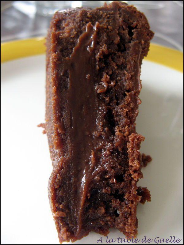 Bon gateau fondant au chocolat