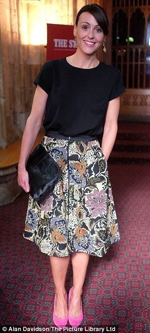 Simply chic: Tamzin Outhwaite, left, and Suranne Jones, right, each made a glamorous arriv...