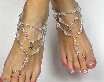 25 cute beach wedding sandals ideas on pinterest beach wedding swarovski starfish barefoot sandals foot jewelry beach wedding sandals anklet for bride wedding foot jewelry beach junglespirit Choice Image