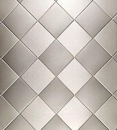 Stainless Backsplash - Decorative Sheet Metals from QuickShipMetals.com