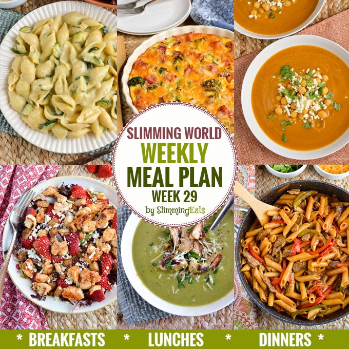 Slimming Eats Weekly Meal Plan - Week 29 - Slimming World Recipes - taking the work out of planning so that you can just cook and enjoy the food