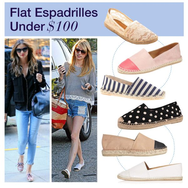 """""""Under $100: Flat Espadrilles"""" by polyvore-editorial on Polyvore"""