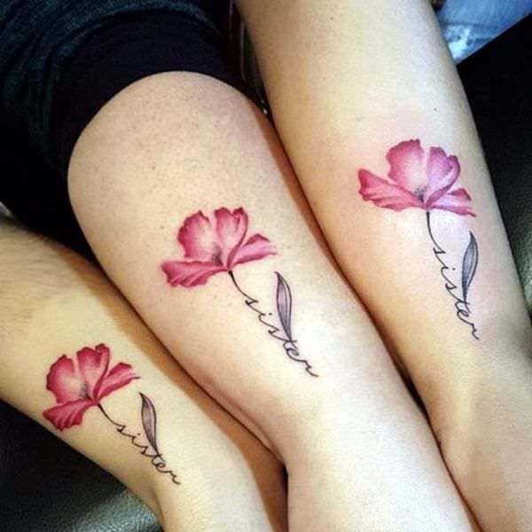14 Tatuajes con flores y letras