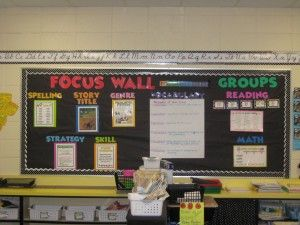 A focus wall.   Something I have not heard of before but am interested in incorporating in my classroom.