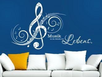 Wandtattoo Musik ist die Melodie...