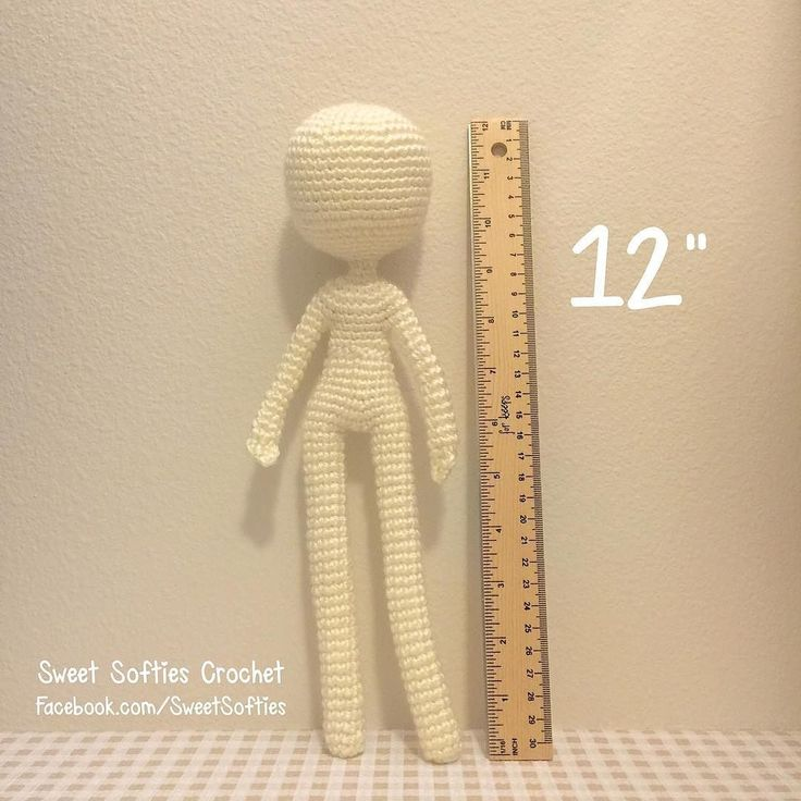 """The 12"""" Slender Doll Base! Which character would you like to customize her into? #amigurumi #crochet #amigurumipattern #crochetpattern #crochetaddict #amigurumiart #amigurumiaddict #amigurumilove #amigurumidoll #crochetlove #crochetart #doll #anime #animedoll #otaku #geek #nerd #japanese #craft #diy #handmade #handcrafted #heartmade #ganchillo #patron #muñeca by sweetsofties"""