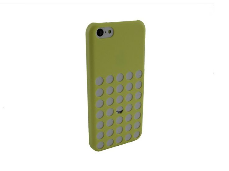 Hardcover iPhone 5C Hoesje Gaten Geel
