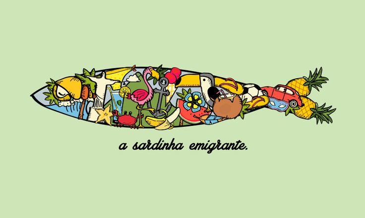 """""""a sardinha emigrante"""" #sardinha #lisboa #santospopulares #illustration #draw"""