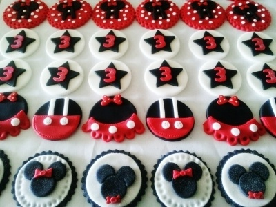 Minnie & Mickey cupcake toppers By DivaJai on CakeCentral.com