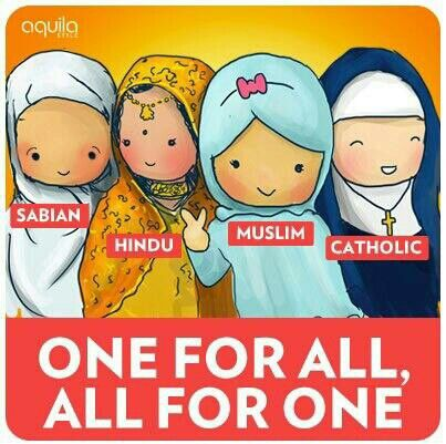 One For All, All For One. #sabian #hindu #muslim #catholic