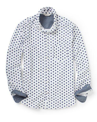 GQ Selects: NN.07 Polka Dot Oxford Shirt via @GQ Magazine