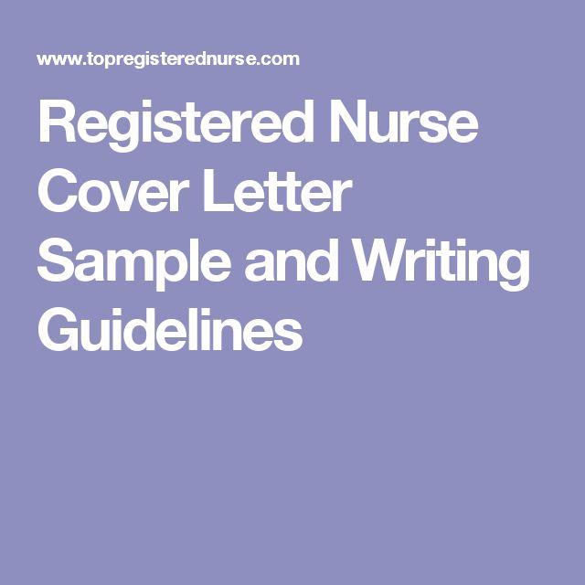nursing cover letter examples