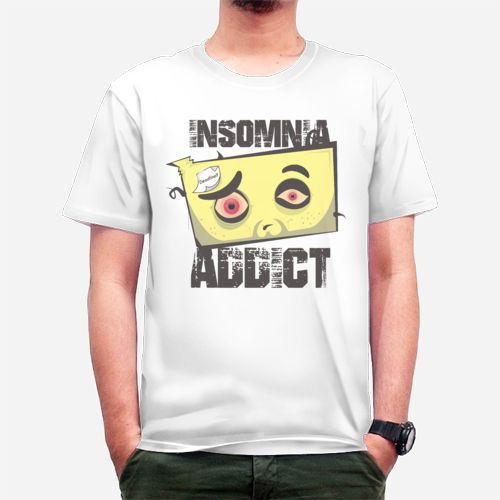 MR PC Insomnia Addict dari Tees.co.id oleh Mister Papercraft Cloth
