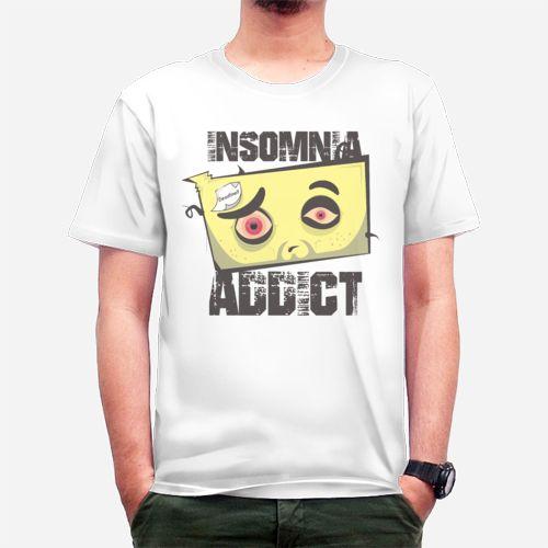 MR PC Insomnia Addict dari Tees.co.id oleh Mister Papercraft Cloth