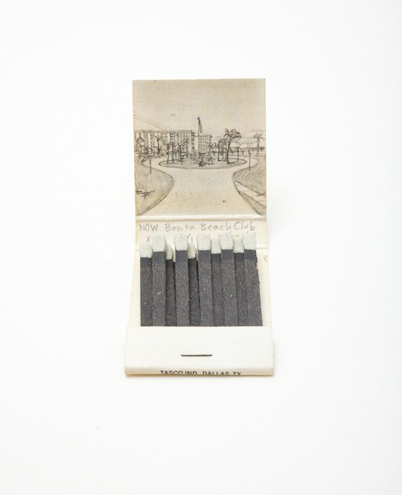 I love these matchbook landscapes and the connection between the matchbook cover and the inside illustration.