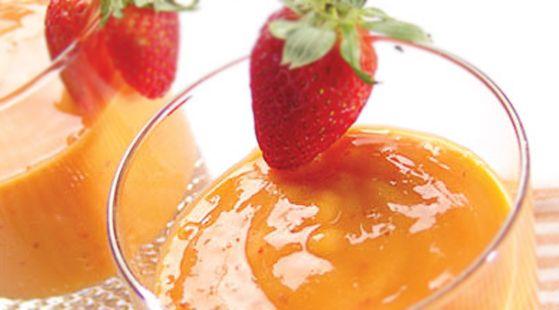 Batido de mango con fresas y cambur