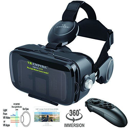 Welcome to my pros and drawbacks consumer reports of the VR EMPIRE 3D VR Headset With Wireless Remote Controller; Anti-Blue-Light Lenses; 120° FOV; Stereo Headset; phone answering button; Virtual Reality Glasses VR Goggles Fit For 4.0-6.2 inch Smartphones . My intent in this review will  be to ...