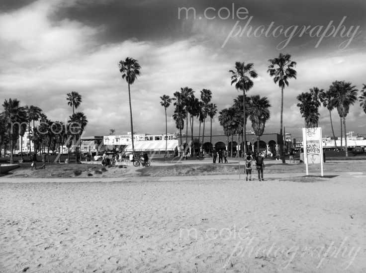 Venice Beach California Black and White by mcolephotography on Etsy