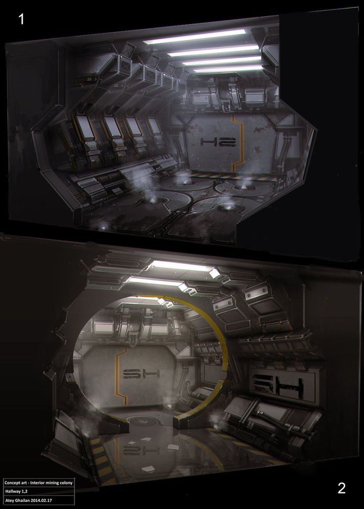 Hallway conceptart by snatti89 spacecraft spaceship space station interior landscape location environment architecture | Create your own roleplaying game material w/ RPG Bard: www.rpgbard.com | Writing inspiration for Dungeons and Dragons DND D&D Pathfinder PFRPG Warhammer 40k Star Wars Shadowrun Call of Cthulhu Lord of the Rings LoTR + d20 fantasy science fiction scifi horror design | Not Trusty Sword art: click artwork for source