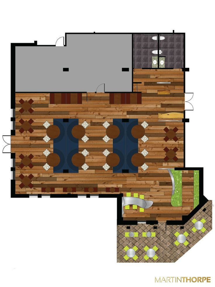 Am Restaurant Juice Bar Floor Plan 2011 Interior