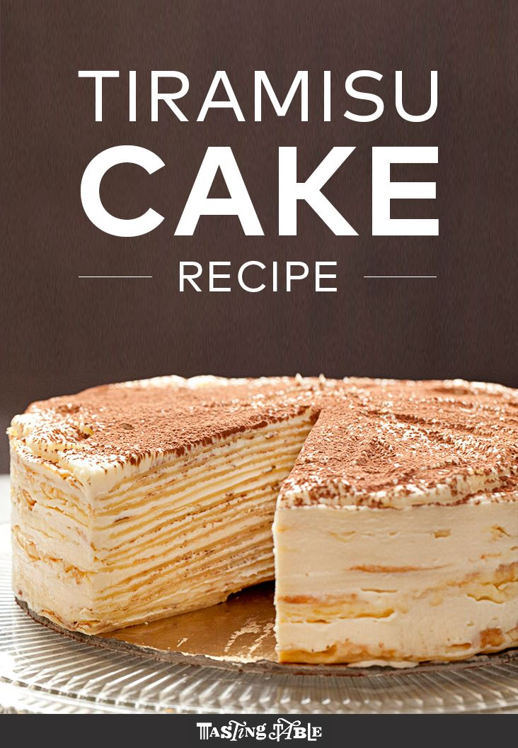 Mille-Crepe Tiramisu Birthday Cake from Francisco Migoya