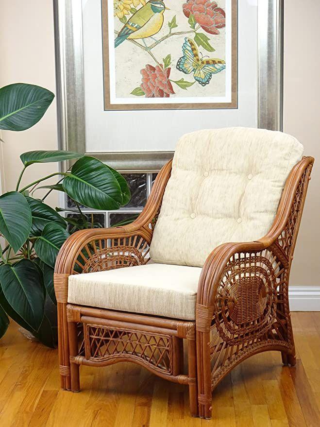 Malibu Lounge Armchair Eco Natural Rattan Wicker Handmade Design With Cream Cushion Colonial Wicker Lounge Chair Lounge Armchair Wicker Armchair