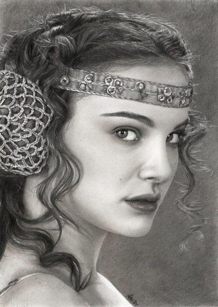 Amazing Pencil  Drawing OF Natalie Portman! Vector Art Gallery - Dil Se Desi Group