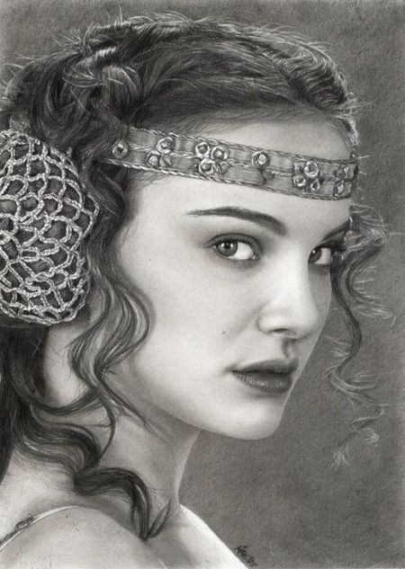 Amazing Pencil  Drawing OF Natalie Portman! Vector Art Gallery - Dil Se Desi Group