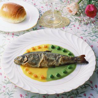 ニジマスのムニエル・野菜ソース|からだ快適レシピ|くすりと健康の情報局