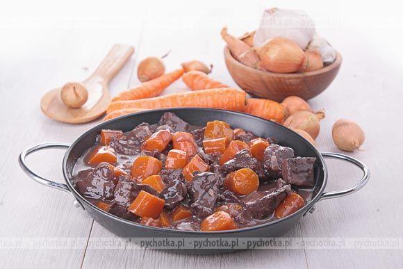 Chcesz coś przegryźć między posiłkami. Proponujemy smaczne danie z wołowiną.  Pikantna potrawka z marchwi . Niezbędne składniki tego dania:  wołowina, marchewka, przyprawy.