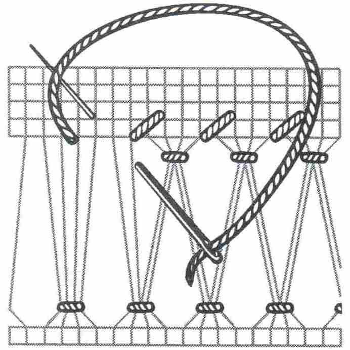 мережка-роздвоєний прутик(черв'ячок)