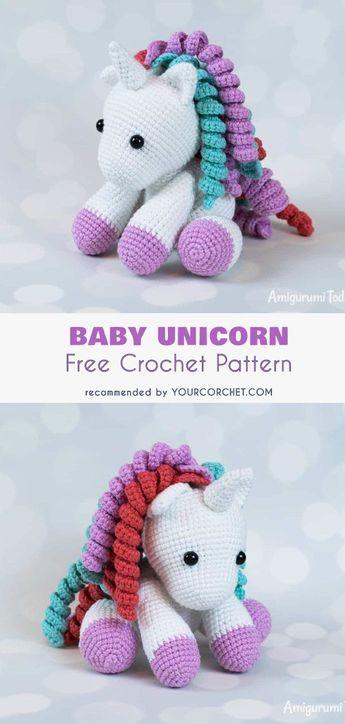 Bebê Unicorn Free Crochet Pattern