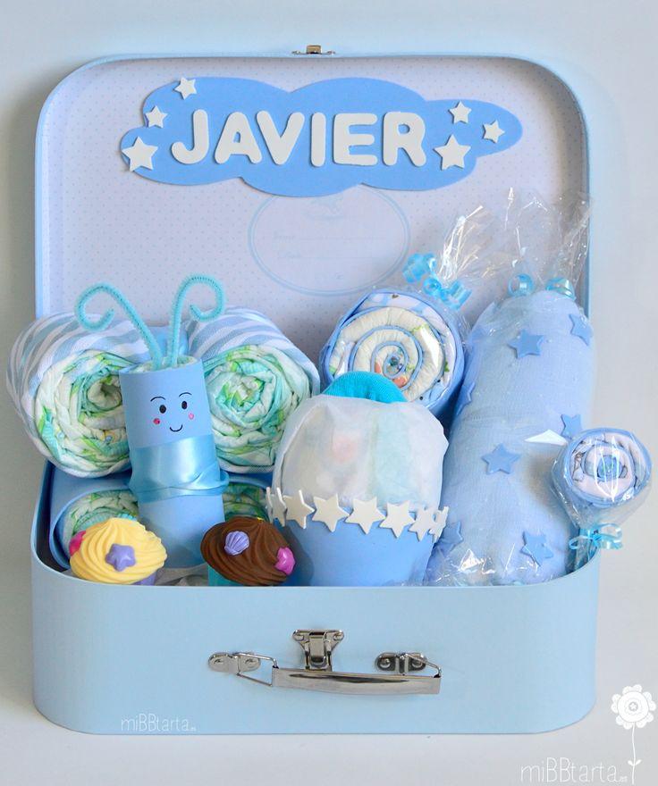Regalos originales para bebés. ¿Canastilla o figura de pañales? Esta maletita es la combinación ideal; pañales, detalles para el recién nacido y juguetitos para el bebé decorados de una forma divertida https://mibbtarta.es/producto/canastilla-bebe-dulce/ #canastilla #babyshower #regalonacimiento #regalobebe #cestanacimiento #cestabebe  #bebe #maternidad #embarazo #embarazada #diapergift #cosasparabebes #regaloreciennacido #tartadepañales #tartasdepañales #diapercake