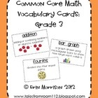 Help your students learn the vocabulary in the new common core math standards using these vocab cards. Just print, laminate, teach, and hang on your math term wall!: Grade Math, Vocab Cards, Schools Math, Math Standards, Common Core Math, Common Cores Math, Math Ideas, Math Stations, Math Term