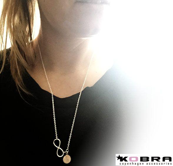 Id tag halskæde i sølv med Infinity - inklusiv din gravering