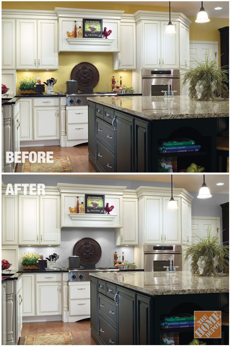 Use Neutral Paint Colors On Your Kitchen Walls To Make White Cabinets Stand Out Check Trend From Behr In The Color