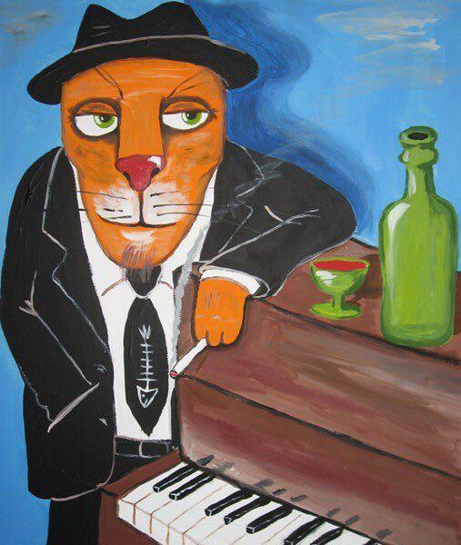 Вася Ложкин «Рыжый кот Том Вейтс»