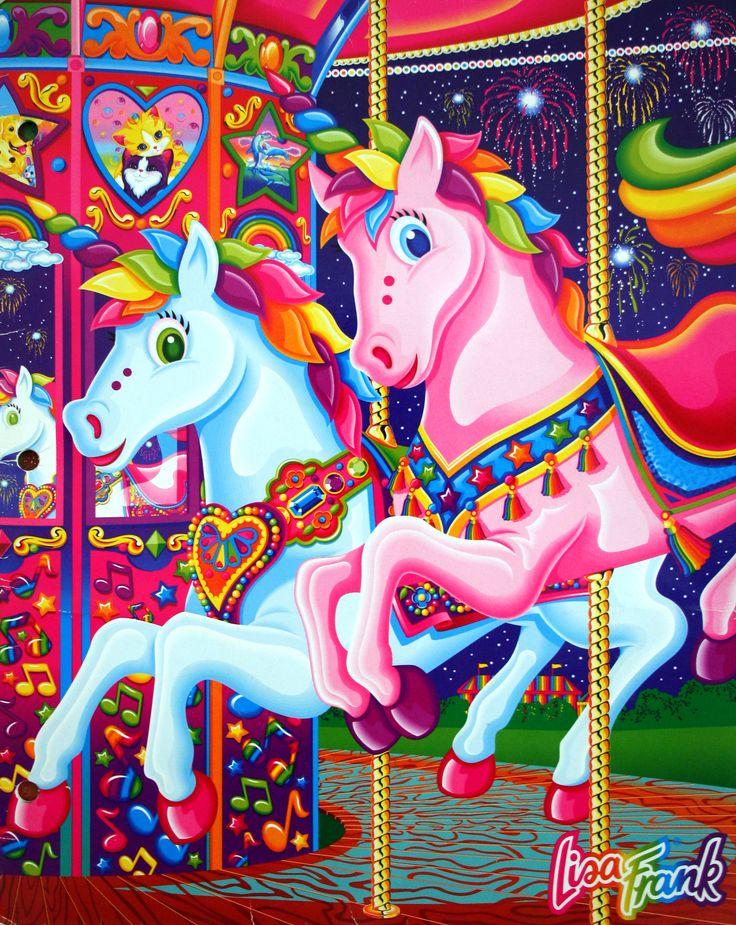 Lisa Frank carousel - school folder