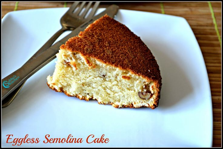 Eggless Semolina cake, is a basic cake which is simple to bake. Learn here how to make yummy and spongy eggless semolina cake with step by step photos