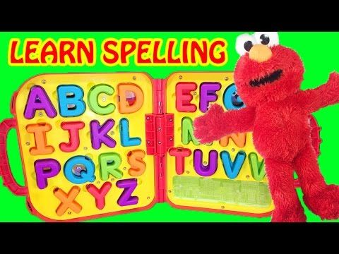 Learn spelling and letters with this fun Sesame Street Elmo skit with the abc alphabet. Elmo loves to spell so he spells elmo, fun, and love. CLICK TO SUBSCR...