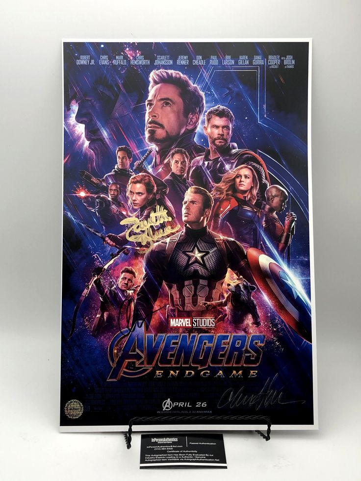 Avengers Endgame Cast Autographed 11x17 Photograph In 2021 Marvel Movie Posters Avengers Movies Avengers