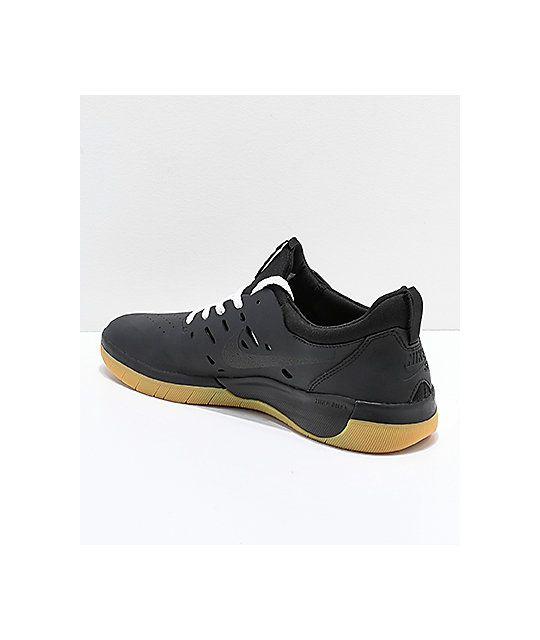6e23d905f47c Nike SB Nyjah Free Black   Gum Skate Shoes